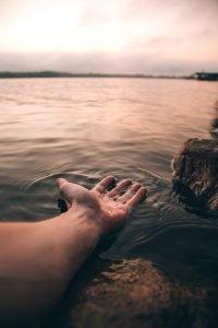 God's hand fresh upon earth